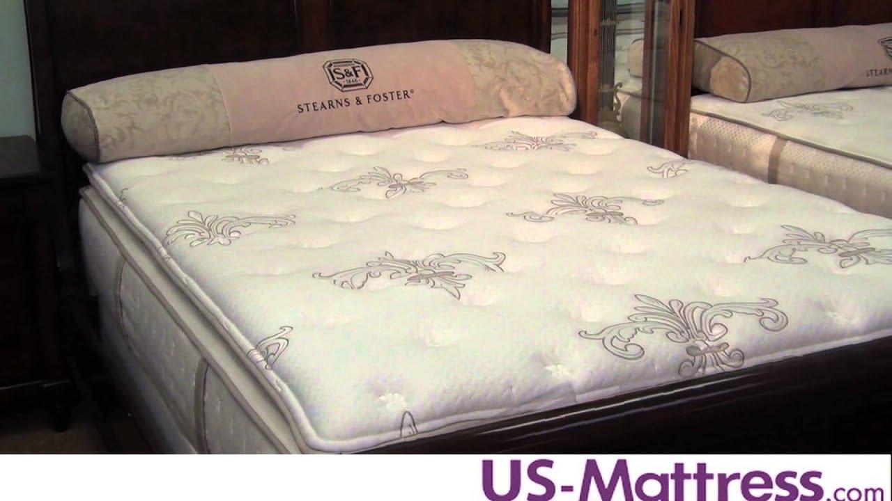 Stearns Foster Suzette Luxury Firm Euro Pillowtop Mattress Youtube