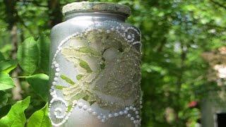 Decupagem em vidro – reciclagem