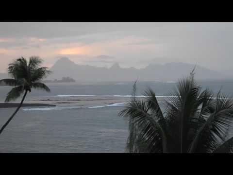 Tahiti, French Polynesia - Sunset at the Tahiti Pearl Beach Resort HD (2017)