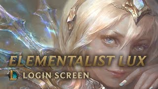 [3.45 MB] Elementalist Lux | Login Screen - League of Legends