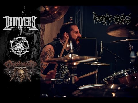 ROTTING CHRIST@Kata Ton Daimona Eaftou-Themis Tolis-Live at Gothoom Fest  2016 (Drum Cam)