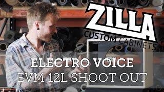 Zilla Cabs EVM12L VS EVM Black Label Shootout.