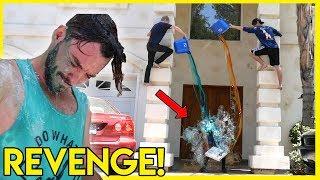 ULTIMATE REVENGE PRANK ON ROOMMATE (forced shower)   Colby Brock