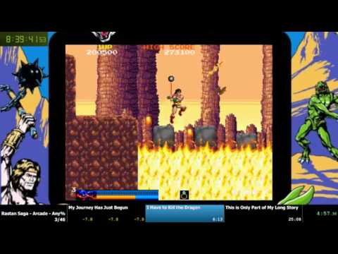 Turbo Turbos Without Turbo: Rastan Arcade - Easy, 5 Lives per coin (22:25)