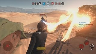 Star Wars Battlefront HERO vs VILLAIN Gameplay (Boba Vett, Han Solo, Princess Lela)