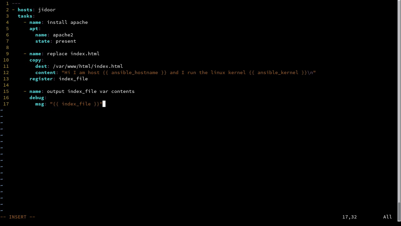 Ansible tutorial #4 - Registering variables and using the debug module