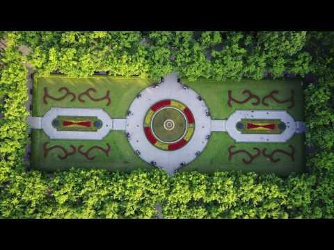 Drone Footage Shanghai Fuxing Park Marx&Engels 4K