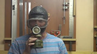 Полная маска для покрасочных работ из противогаза. Full mask for painting works from a gas mask.