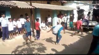 mahul pali (dalab) dance in ganesh puja prosesion
