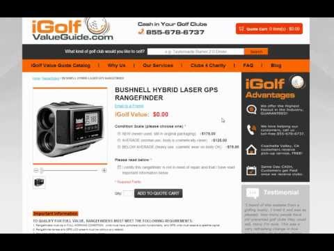 iGolf Value Guide - How to Search Database for Golf Clubs and Rangefinders