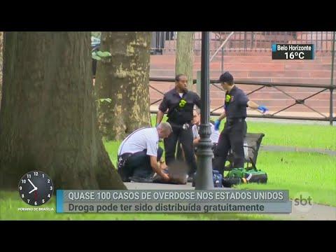 Quase 100 pessoas sofrem overdose próximo a universidade nos EUA | SBT Brasil (17/08/18)
