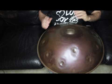 "EON - G# Harmonic Minor handpan ""Silver Mutant"""