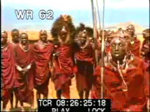 African Tribe - part 3 - color archival stock footage