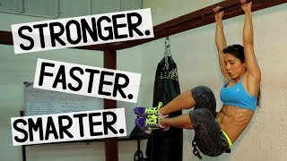 Female Fitness Motivation -AB, Pull-Ups and Punching Bag