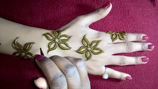 How to draw flower mehndi beautiful arabic mehandi designs/henna designs for hands