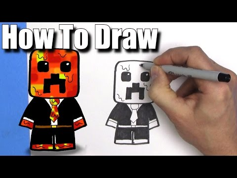 how-to-draw-preston-playz-minecraft-skin---easy-chibi---step-by-step---kawaii