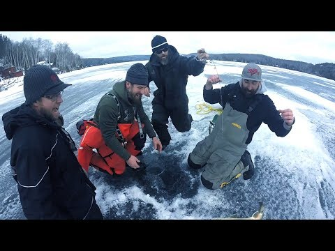 BEST DAY EVER..... Northern Ontario Lake Trout Through The ICE!