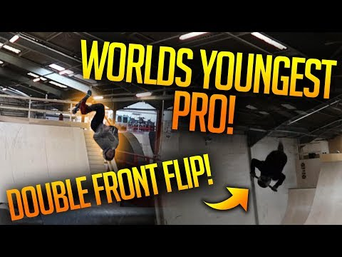 ❌WORLDS YOUNGEST PROFESSIONAL❌ Double Front Flip  FT Jordan Clark and Charley Dyson!
