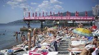 Ялта 2012 Массандровский Пляж Встреча с Поляковой Massandra beach Yalta 07.06.2012
