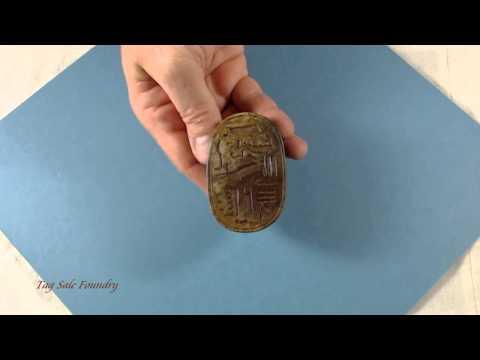 Scarab Paperweight Egyptian Ceramic Resin