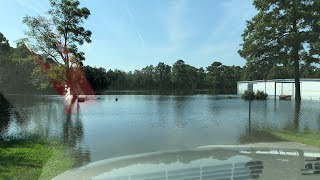LIVE — Neuse River Flooding in Kinston, NC from Hurricane Florence