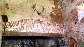medieval kitchen at Compton Castle YouTube