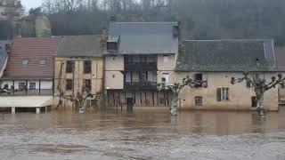 Inondation de la Vézère le 21 janvier 2018 ( 4m83  à 11h00 )