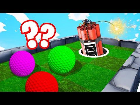 TNT vs. GOLF BALLS TROLL! (Golf It)