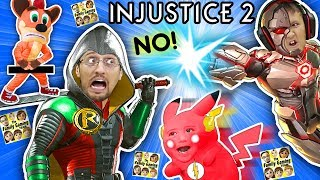 SUPER HERO KIDS vs. DAD Battle! Pikachu is Savage! (FGTEEV plays INJUSTICE 2 Batman vs. Superman) thumbnail