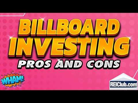 Billboard Investing - Pros And Cons Investing In Billboards - REIClub.com