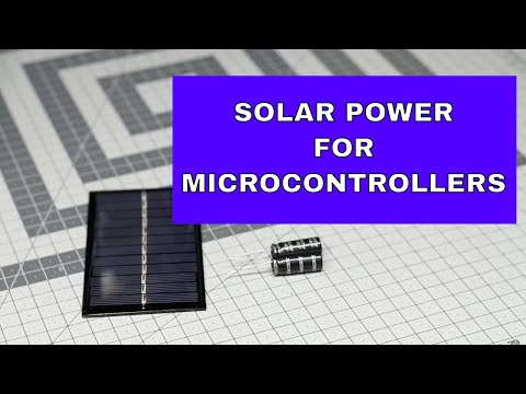 Free Energy Source For Arduino, Using Solar Panel And Supercapacitors