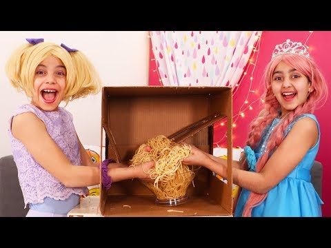 What's In The Box!? Challenge 📦 Olivia Vs. Esme - Princesses In Real Life | Kiddyzuzaa