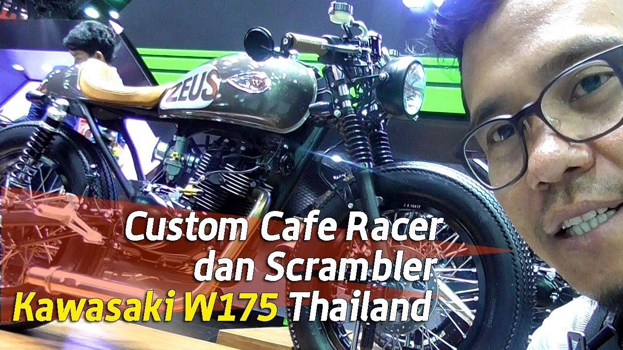 Vlog Kawasaki W175 Custom Cafe Racer Dan Scrambler Youtube