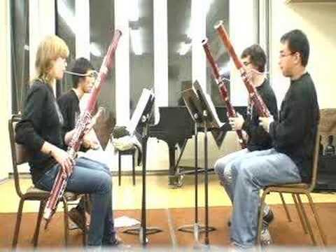 Super Mario Bassoon quartet