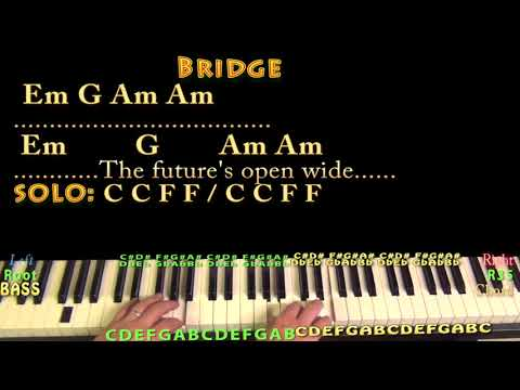 I Melt With You (Modern English) Piano Cover Lesson in C with Chords/Lyrics