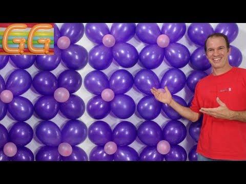 como hacer una pared de globos - decoracion con globos - decoracion de cumpleaños
