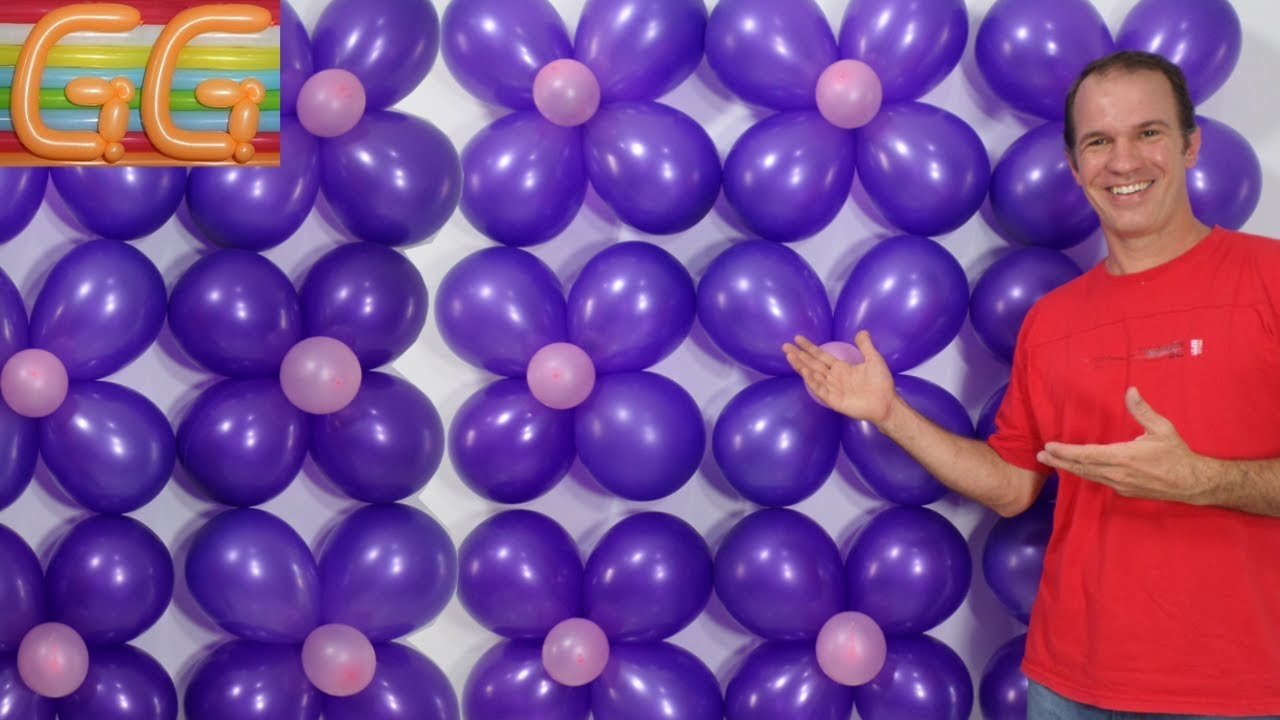Como hacer una pared de globos decoracion con globos for Como hacer decoracion con globos