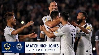 HIGHLIGHTS: LA Galaxy vs. Vancouver Whitecaps FC | September 29, 2018