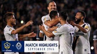 highlights la galaxy vs vancouver whitecaps fc september 29 2018