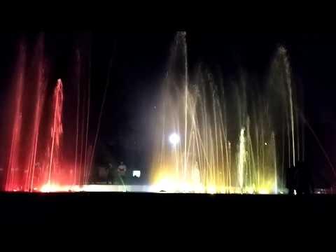 Kalindi Kunj Park || fountain in Night