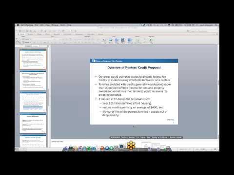 November 16, 2012 Federal Renters' Credit Webinar