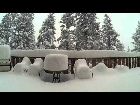 Un metro di neve in time lapse