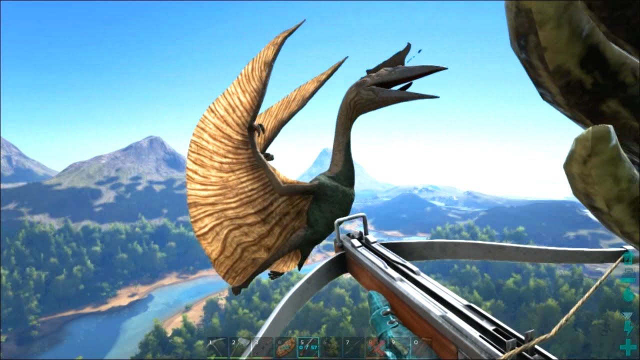 Ark Survival Evolved 19 Quetzal Sniper Fortress Youtube
