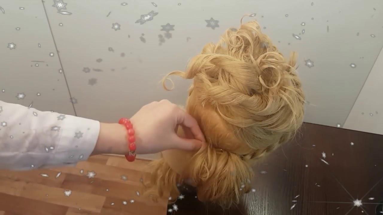Прическа на новый год красивые локоны как сделать прическу на средние длинные волосы