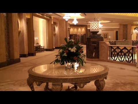 Emirates Palace Hotel - Abu Dhabi - exclusive video of the Palace Suite - HD 1080p
