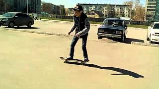 #Lena STOP и Shene 2 видео обучения как кататься на скейте.