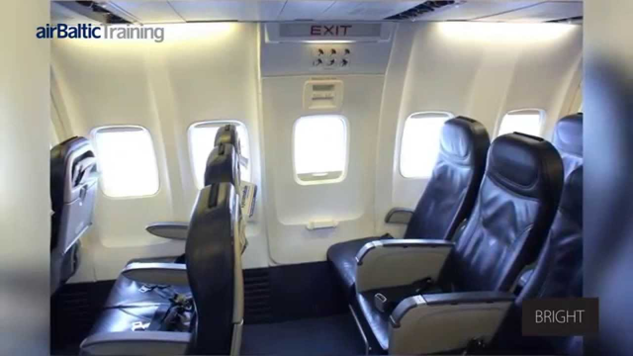 Boeing 737 300 500 Aircraft Over Wing Exits Youtube