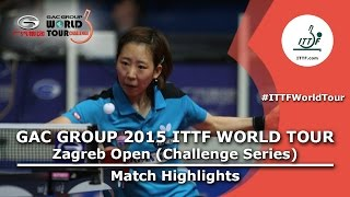 Zagreb Open 2015 Highlights: YANG Haeun vs SHAN Xiaona (1/2)