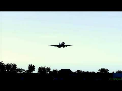American Airlines Boeing 767-300ER Lands at Khartoum Sudan