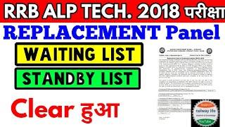 Technician - III Replacement panel ALP Technician cen. no 1/2018